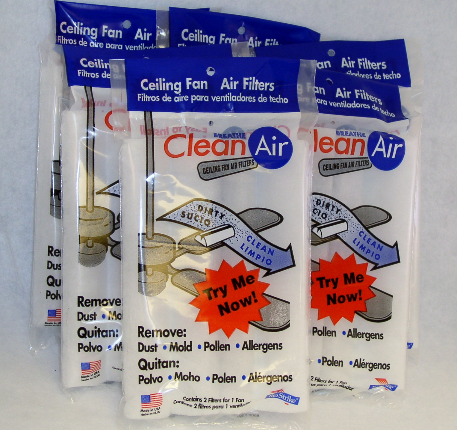 Ceiling fan air filtersbiostrike ceiling fan air filters breathe clean air breath clean air with biostrike air filters aloadofball Gallery