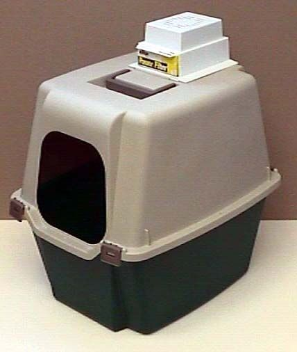 Litter box odor remover with litterbox